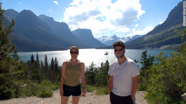 Kearl and her cousin stopped for a photo in Montana's Glacier National Park in 2011.