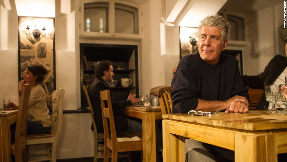 """Anthony Bourdain dines at <a href='http://www.kokoko.spb.ru/en' target='_blank'>CoCoCo</a> in St. Petersburg, Russia. The restaurant, owned by musician Sergey Shnurov and wife Matilda, sources its ingredients from local farmers. """"Farm-to-table in Russia? Organic? Local? Why, yes. There are those who are trying,"""" Bourdain says."""
