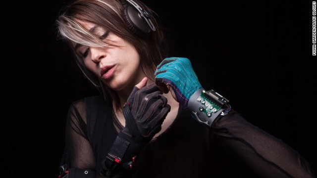 "Singer-songwriter Imogen Heap has <a href='http://www.imogenheap.com/tag/mi-mu-gloves/' target='_blank'>performed ethereal versions of her tracks</a>, playing an instrument of her own creation -- housed in<a href='http://theglovesproject.com/' target='_blank'> a glove</a>. ""I wanted to be able to play the computer as expressively as I can play the piano,"" she says."