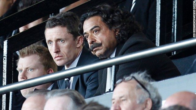 It's been dismal viewing for new Fulham boss Khan (center right) as he watched the club tumble out of the Premier League in his first season in charge.