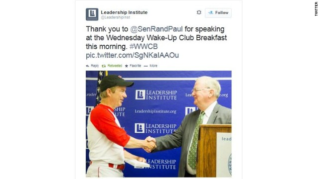 That time Rand Paul wore a baseball uniform to a speech