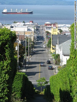 "Hear a tape rewinding, the sound of the white noise? Thanks to ""The Ring 2,"" the picturesque city of Astoria, Oregon, feels a little bit creepier."
