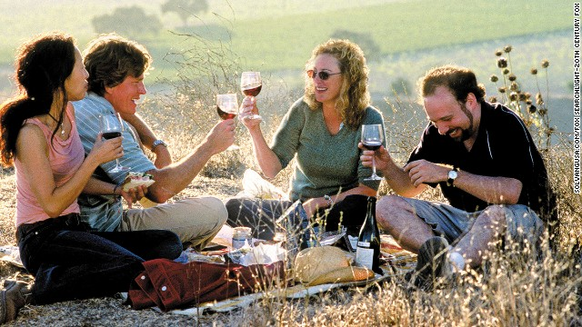 "The ""Sideways"" gang picnicked off the roadside in Southern California's Santa Ynez Valley. If you'd rather sit at a table, the Hitching Post II in Buellton (where Miles met Maya in the movie) is legendary for its barbecued steaks."