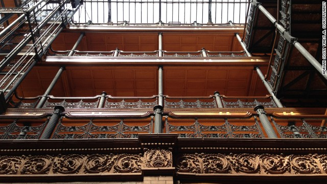 "The Bradbury Building was the perfect noir setting for the climactic ""Blade Runner"" rooftop showdown between androids and Rick Deckard (Harrison Ford)."