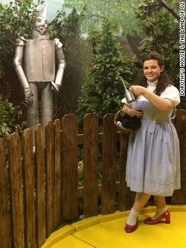You can follow ruby-slippered Dorothy guides along a yellow brick road at Dorothy's House & the Land of Oz in Liberal, Kansas. Never mind that the entire movie was filmed indoors at MGM Studios in Culver City, California.