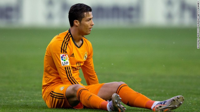 Cristiano Ronaldo lasted just nine minutes of Real Madrid's game at Valladolid after suffering an injury.