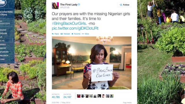Michelle Obama's message on Twitter