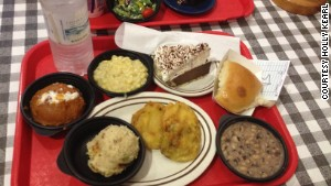 Fried green tomatoes and other Southern fare are on the menu at the Irondale Cafe in Irondale, Alabama.