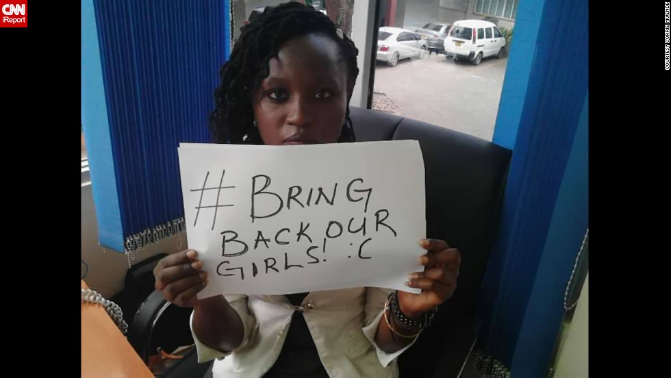 Weeks after the April 14 kidnapping of more than 200 Nigerian girls, worried families and supporters blamed the government for not doing enough to find them. Their cries spread worldwide on social media under the hashtag #BringBackOurGirls. From regular people to celebrities, here are some of the people participating in the movement.