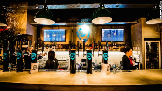 Opened in March, BrewDog Roppongi is the Scottish brewery's first foray into Asia. The Tokyo outpost is a bi-level space sporting a spare, industrial design. At least half of the bar's 20 taps are earmarked for BrewDog beers.
