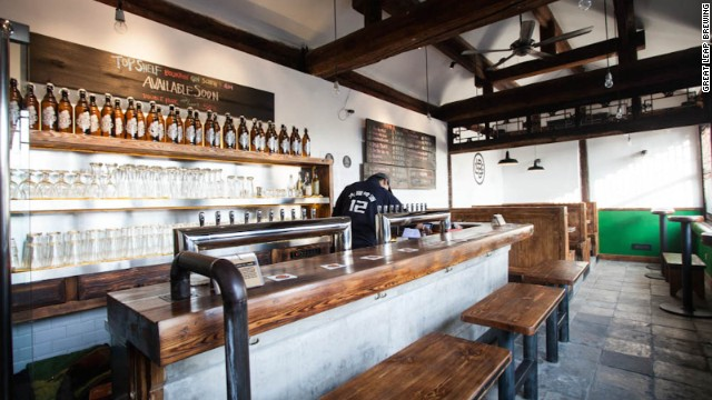 Great Leap Brewing brews more than 40 different beers a year, with the goal of introducing at least one new beer every month at its original hutong location (pictured) and GLB's newer, larger flagship brewpub in the city's Chaoyang district.