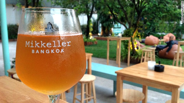 Opened in January and modeled after the bright, cheerful design of Mikkeller & Friends bar in Copenhagen, Mikkeller Bangkok is the brand's first bar in Asia.