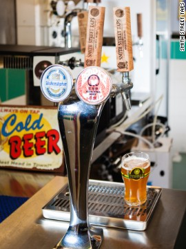 Launched in January by local bottle-shop owners Daniel Goh and Meng-Chao, this hidden pop-up bar at Singapore's Chinatown Complex Food Centre is the first and currently only hawker center stall exclusively serving draft beers.