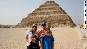 The Shane family of California took a five-month trip through Europe and the Middle East, including Giza, Egypt.
