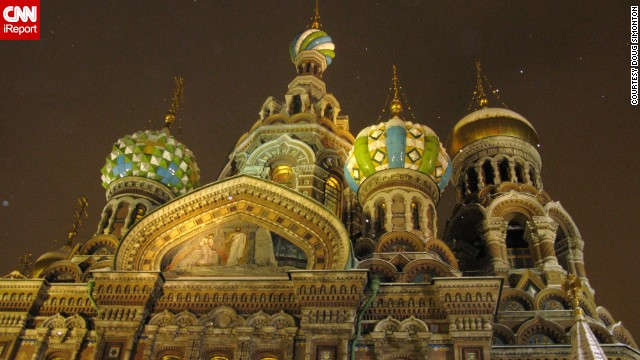 "<a href='http://ireport.cnn.com/docs/DOC-1118643'>Doug Simonton</a> remembers the ""blistering cold"" when he captured the intricate details of the recently renovated Church of Our Savior on Spilled Blood in St. Petersburg, Russia."