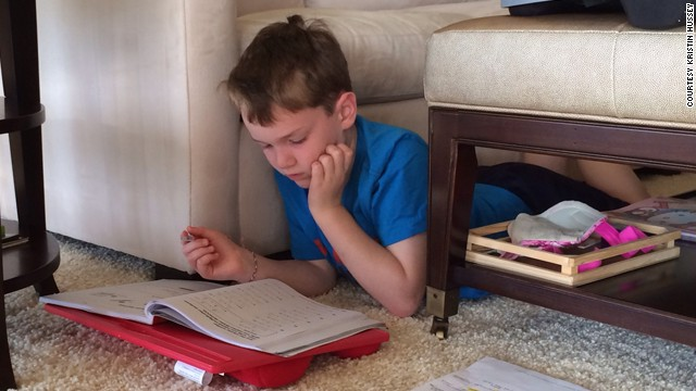 During the sabbatical, Hussey's sons used library books and blog entries for reading and writing work. In math, the boys used the same textbooks as their classmates back home.