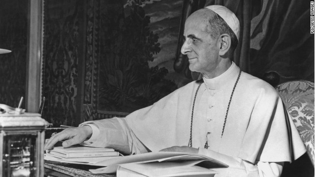 Pope Paul VI, born Giovanni Battista Enrico Antonio Maria Montini, reigned as Pope of the Catholic Church and Sovereign of Vatican City from 1963 to 1978.