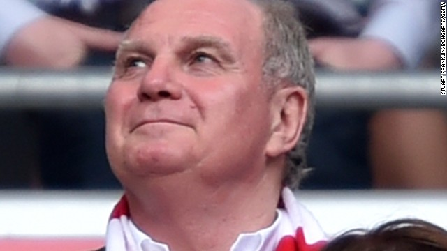 Former Bayern president Uli Hoeness watched the title celebrations ahead of starting his jail sentence in Germany for tax fraud.