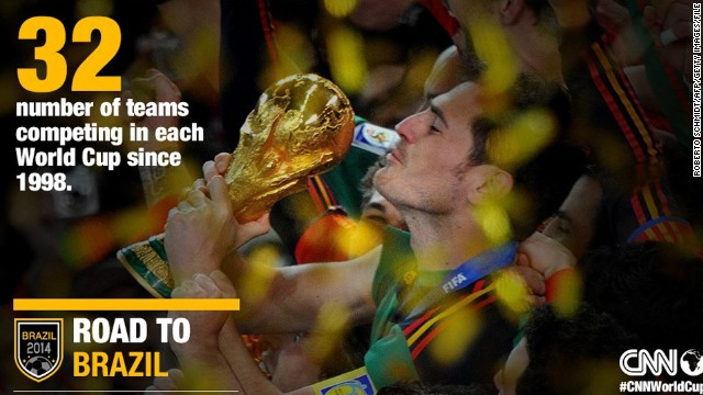 When the World Cup was established in 1930, only 13 teams participated. Teams able to qualify for the international event expanded to 24 teams in 1982 and then increased again to the now-familiar 32 teams in 1998.