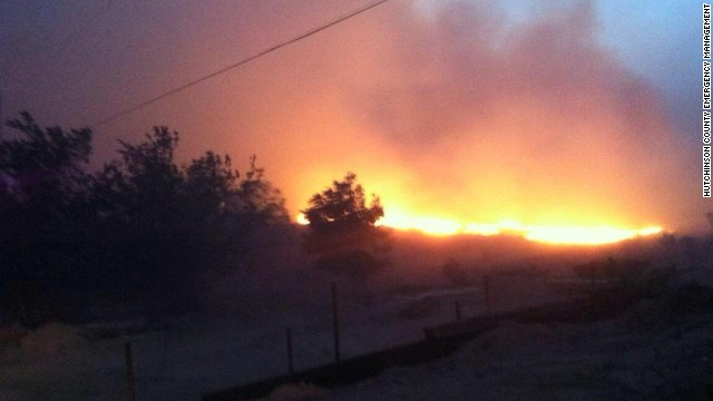 A wildfire in the Texas panhandle forced hundreds to evacuate.