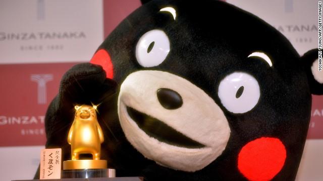A 100 mil. yen gold represntation of Kumamoto prefecture's Kumamon mascot.