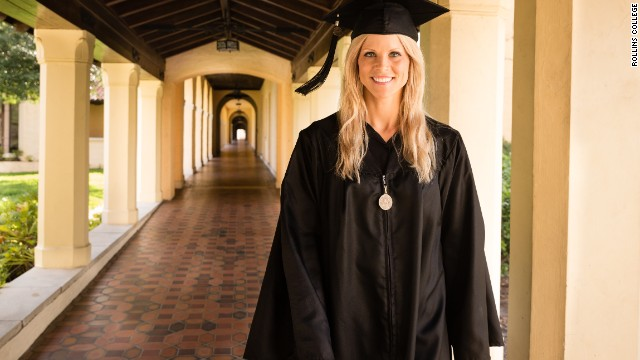 "Elin Nordegren, the ex-wife of Tiger Woods, gave <a href='http://www.cnn.com/video/data/2.0/video/us/2014/05/12/bts-tiger-woods-ex-graduation-speech.rollins-college.html'>a commencement speech at Rollins College</a> after winning the Outstanding Graduating Senior Award from the Hamilton Holt School. ""Education has been the only consistent part of my life the last nine years,"" she told her fellow grads. ""And it has offered me comfort. Education is one thing that no one can take away from you.""<!-- --> </br>"