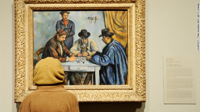 Many of the most expensive pieces of art have been sold behind closed doors -- making precise figures hard to come by -- but even the lowest estimates are eye-watering. <i>The Card Players</i>, painted by Paul Cézanne in 1892/3, was reportedly sold to the State of Qatar in April 2011 for between $250 - $300 million.