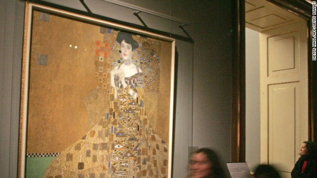 This 1907 Gustav Klimt painting <i>Portrait of Adele Bloch-Bauer I</i> sold for $135 million -- the highest sum ever paid for a painting at the time -- in June 2006 to billionaire Ronald Lauder, according to the New York Times. Adele was the wife of Ferdinand Bloch-Bauer; a wealthy industrialist who sponsored the arts and supported Gustav Klimt.