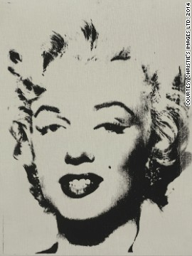 This Andy Warhol painting of Marylin Monroe is up for auction at the Post-War and Contemporary Evening sale at Christie's New York. It's called <i>White Marilyn</i> and was painted in 1962. The signed painting will sell for an estimated $12 - $18 million at the auction on May 13.