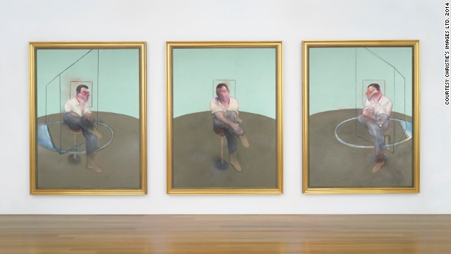 Painted in 1984, this Francis Bacon triptych <i>Three Studies for a Portrait of John Edwards</i> is one of the most anticipated pieces up for auction at Christie's on May 13. It will be sold for an estimated $80 million according to Christie's.