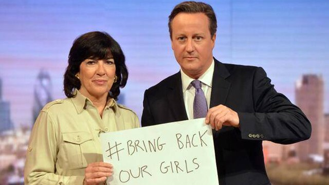 Amanpour asks PM Cameron to join #BringBackOurGirls