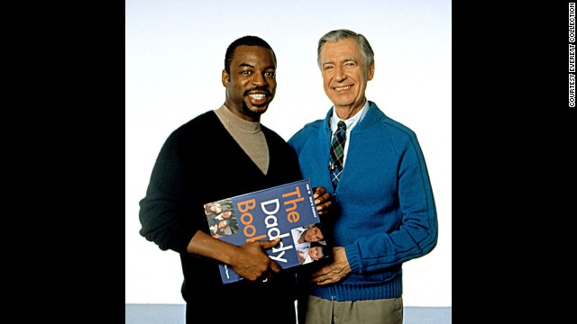 "It was a beautiful day in the neighborhood when the ""Reading Rainbow's"" Burton and Fred Rogers met. Rogers hosted the public television show ""Mister Rogers' Neighborhood"" from 1966 to 2001.<!-- --> </br>"