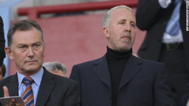 Aston Villa owner Randy Lerner (right) has put the English Premier League club up for sale.