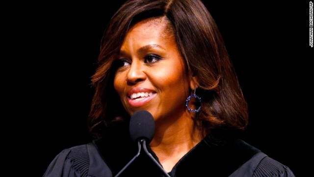 The first lady delivers the commencement address at Dillard University in New Orleans on May 10. She'll also <a href='http://politicalticker.blogs.cnn.com/2014/04/24/first-lady-changes-plans-after-controversy-over-high-school-graduation-address/'>speak to seniors in Topeka, Kansas, just before their graduation</a> and the District of Columbia College Access Program in Washington this year.