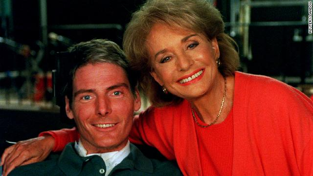 "In the first interview since a horseback riding accident left him paralyzed from the neck down, Christopher Reeve talked with Walters on September 28, 1995, for a special one-hour segment of ABC News' ""20/20."" In the interview, which took place at the Kessler Institute for Rehabilitation in New Jersey, Reeve talks about what he remembers of his accident and how his life functioned afterward."