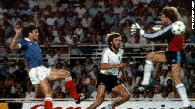 West German goalkeeper Harald Schumacher became a World Cup villain during the 1982 tournament following the semifinal victory over France. Schumacher's foul on Patrick Battiston left the Frenchman with two lost teeth, three cracked ribs, damaged vertebrae, and he was unconscious for almost half an hour.