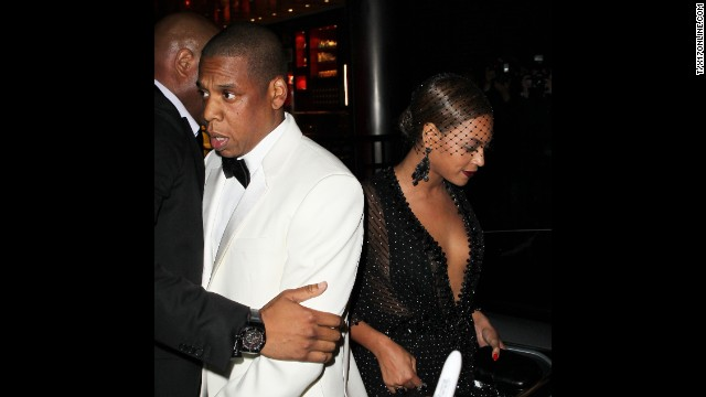 "According to reports, Jay Z and Beyonce, who married in 2008, walked out together but then departed in separate cars. <a href='http://www.people.com/article/beyonce-left-with-solange-after-sister-fights-with-jayz' target='_blank'>An onlooker told People magazine</a> that Jay Z approached the vehicle waiting for his wife and sister-in-law but then hesitated and ""walked down the block and got in a car."""
