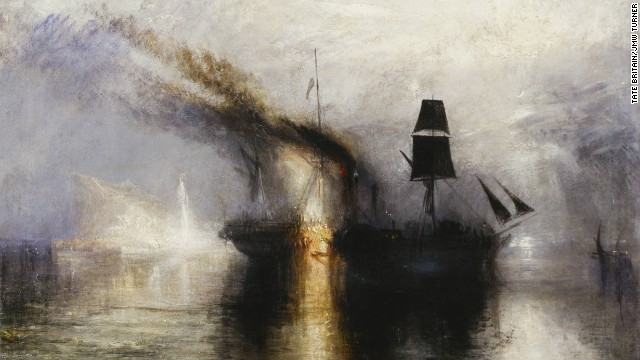 "JMW Turner is renowned as the greatest maritime artist of all time -- among his illustrious works is this 1842 painting ""Peace -- Burial at Sea."""