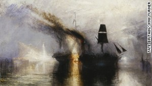 Lashed to a mast? Turner's passion