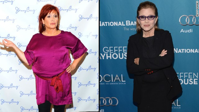 "According to Carrie Fisher's mom, Debbie Reynolds, the actress has shed 40 pounds for her role in ""Star Wars: Episode VII."" <a href='http://www.extratv.com/2014/05/07/carrie-fisher-lost-40-pounds-for-new-star-wars-movie/' target='_blank'>Reynolds told ""Extra""</a> that her daughter, who starred in the original 1977 ""Star Wars"" movie as Princess Leia, is ""very excited"" to reprise her role in the upcoming 2015 film. ""She's been on a diet ever since, because you know they have to be up to par, so she looks terrific,"" Reynolds said."