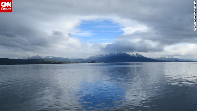 "Larry Martino visited the world's southernmost city, Ushuaia, Argentina, while on an Antarctic cruise. ""This picture epitomizes the beauty of our planet. Everything we saw was clean and unpolluted by man."""