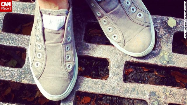 <a href='http://instagram.com/brick13' target='_blank'>Lori Dobson</a> loves her Chuck Taylors for lunch hour walks on College Hill in Easton, Pennsylvania. Comfort is her number one priority in choosing a shoe, she says.