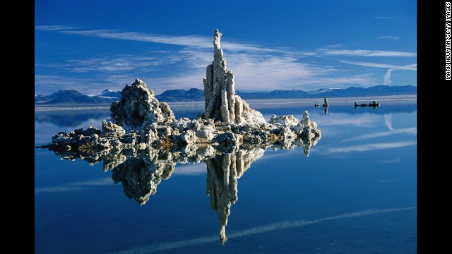 Just a few miles east of Yosemite National Park, visitors will find tufa towers rising out of the waters at Mono Lake, a body of water more than twice as salty as the ocean.