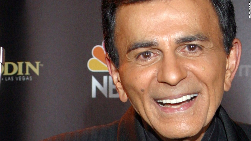 """Casey Kasem, who entertained radio listeners for almost four decades as the host of countdown shows such as """"American Top 40"""" and """"Casey's Top 40,"""" died early Sunday, June 15, according to a Facebook post from his daughter Kerri Kasem."""