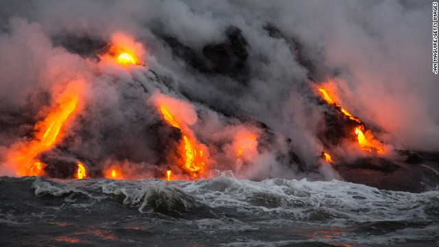There are still active volcanoes at Hawaii Volcanoes National Park, demonstrating how volcanoes redefine the natural landscape.