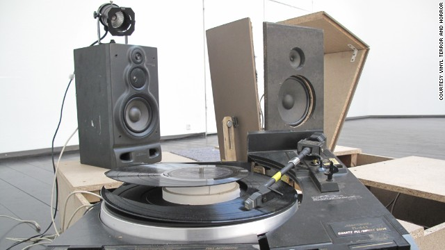 <a href='https://vimeo.com/34338112' target='_blank'>Vinyl Terror and Horror</a> -- real names Camilla Sørensen and Greta Christensen -- have hacked the turntables... to pieces. Their scarred, smashed and restitched vinyl create all types of noise, occasionally interrupted by the vinyl's intended soundtrack.