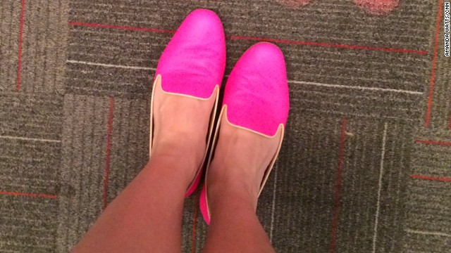 "Even CNN employees were eager to share their favorite flatts. Assignment editor <a href='https://twitter.com/cnnamanda' target='_blank'>Amanda Watts</a> calls these her ""subtle flats,"" because they are anything but subtle. ""I love the juxtaposition of the menswear-inspired loafer against the super girly hot pink color. And since hot pink is a neutral (isn't it?) they go with just about everything,"" said Watts, who works in Atlanta."