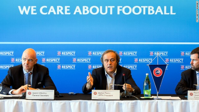 UEFA president Michel Platini has vowed to crack down on clubs that spend more than they earn, with seven other teams also sanctioned -- three from Turkey and Russia, and one from Bulgaria.