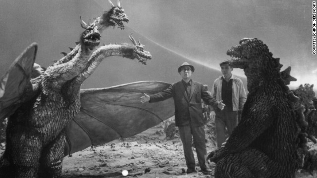 "Eiji Tsuburaya was a visual effects mastermind, and audiences are still reaping the rewards of his genius. As the man behind such classics as ""Godzilla"" and ""Ultraman,"" Tsuburaya is the <a href='http://www.chroniclebooks.com/titles/eiji-tsuburaya-master-of-monsters-paperback.html' target='_blank'>subject of the book ""Eiji Tsuburaya: Master of Monsters.""</a> Here he runs through the direction of the battle between Godzilla and King Ghidorah in 1965's ""The Great Monster War."" Click through for a look at more images from the book."