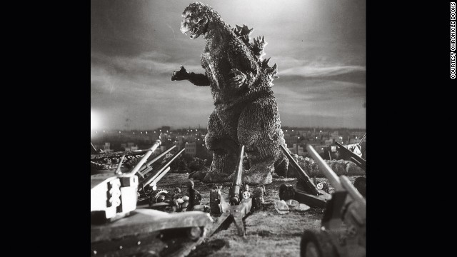 "A publicity photo for 1954's ""Godzilla."""